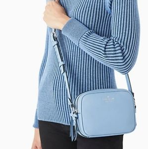 """Kate Spade """"mulberry street pyper"""" crossbody in aqua bloom-New with tags"""